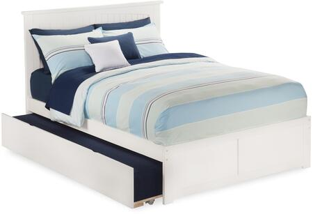Nantucket Collection AR8232012 Size Platform Bed with Twin Size Urban Trundle  Flat Panel Footb Board  Hardwood Slat Kit and Eco-Friendly Solid