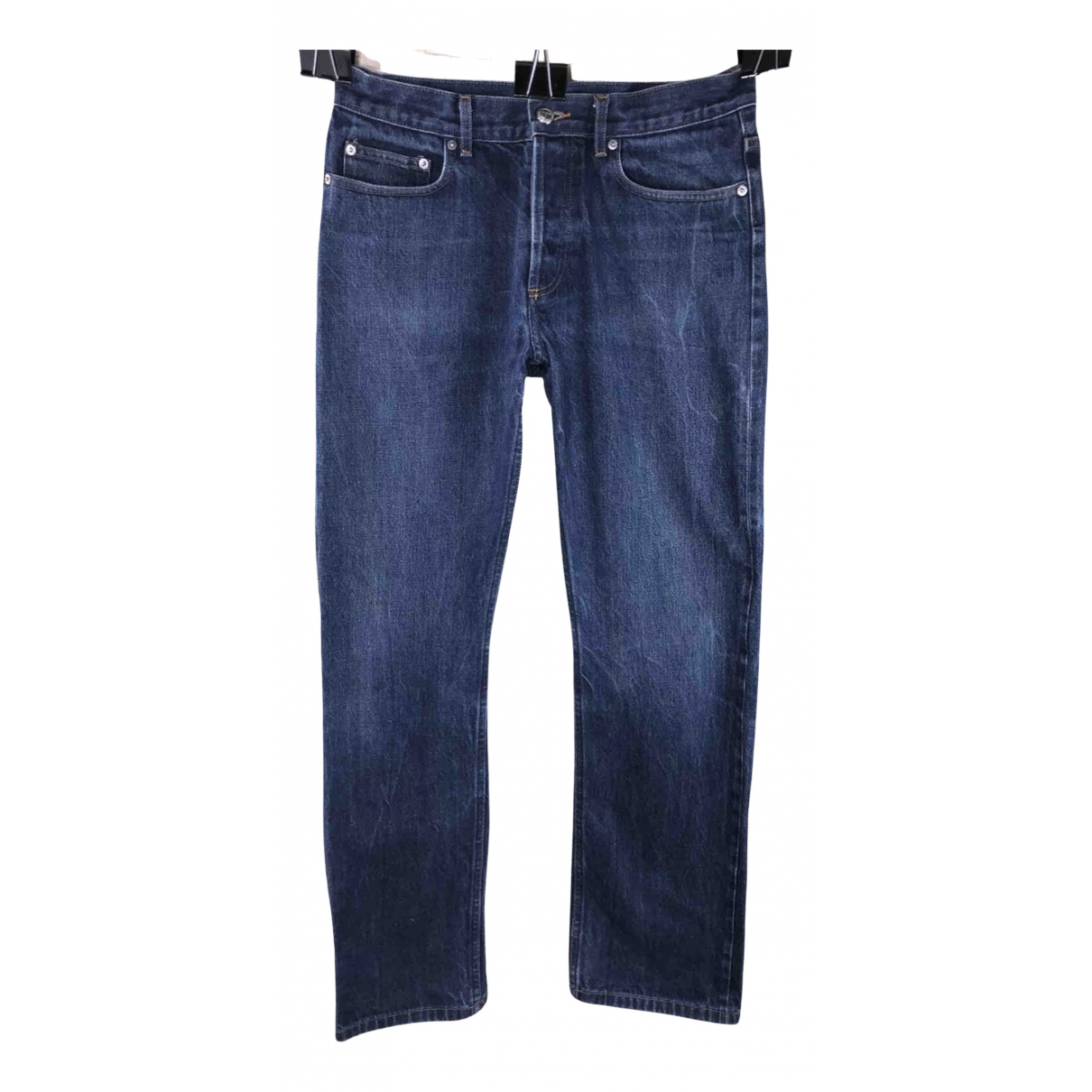 Apc N Blue Cotton Jeans for Men 32 US