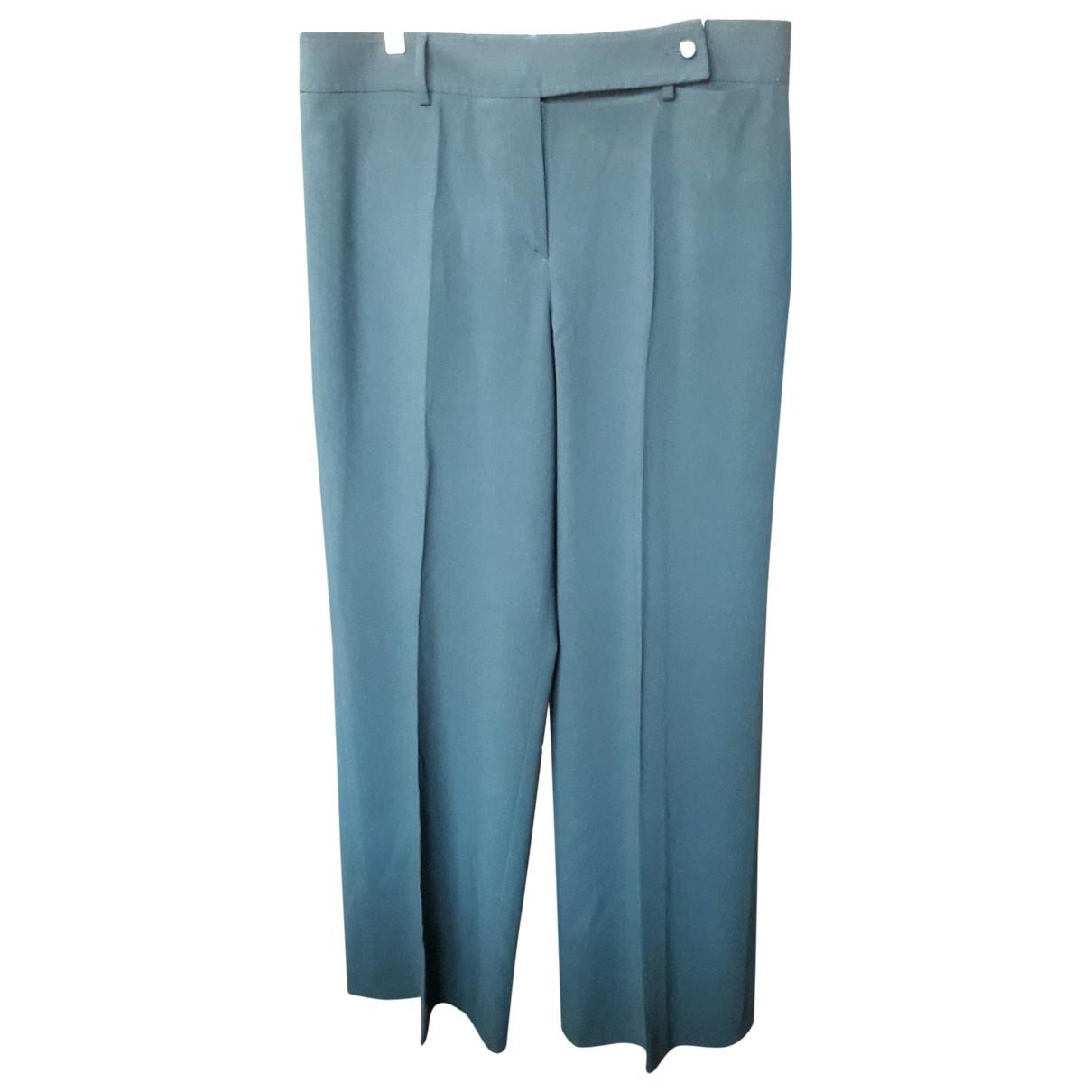 Giorgio Armani N Black Wool Trousers for Women 48 IT