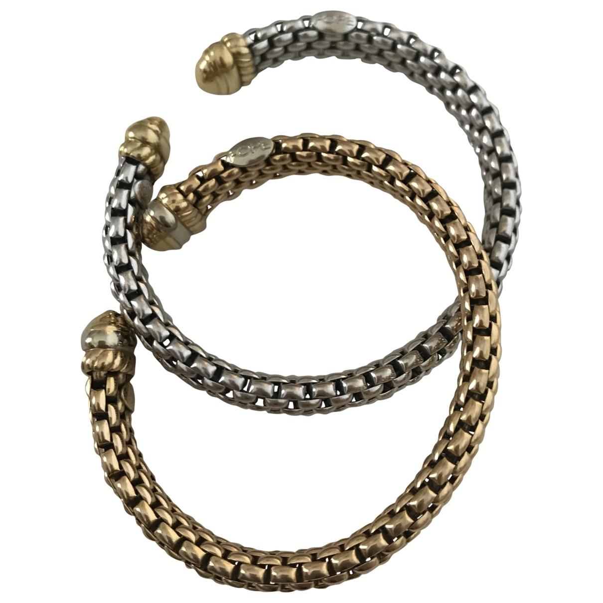 Fope \N Armband in  Grau Weissgold