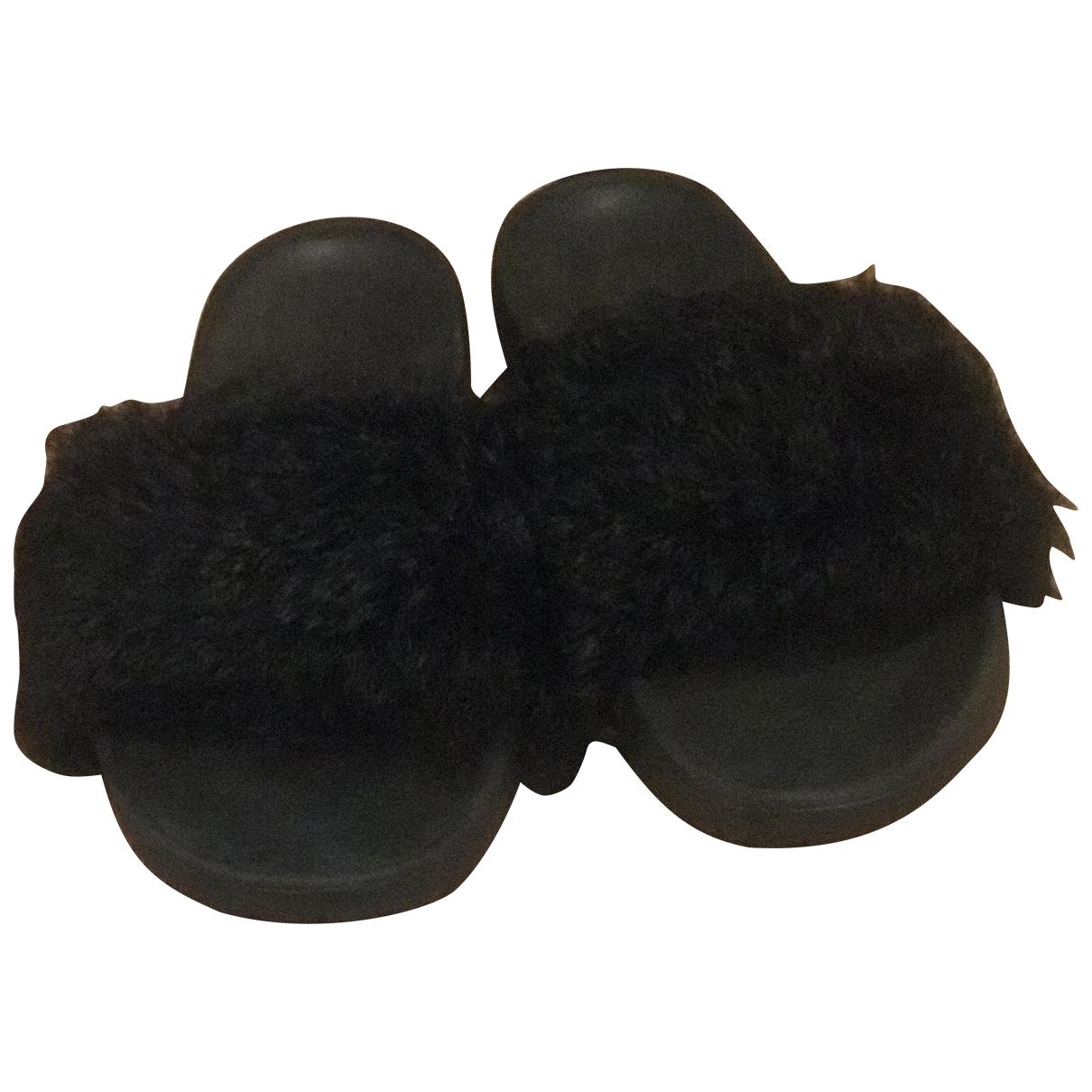 Ugg \N Sandalen in  Schwarz Mongolisches Lamm