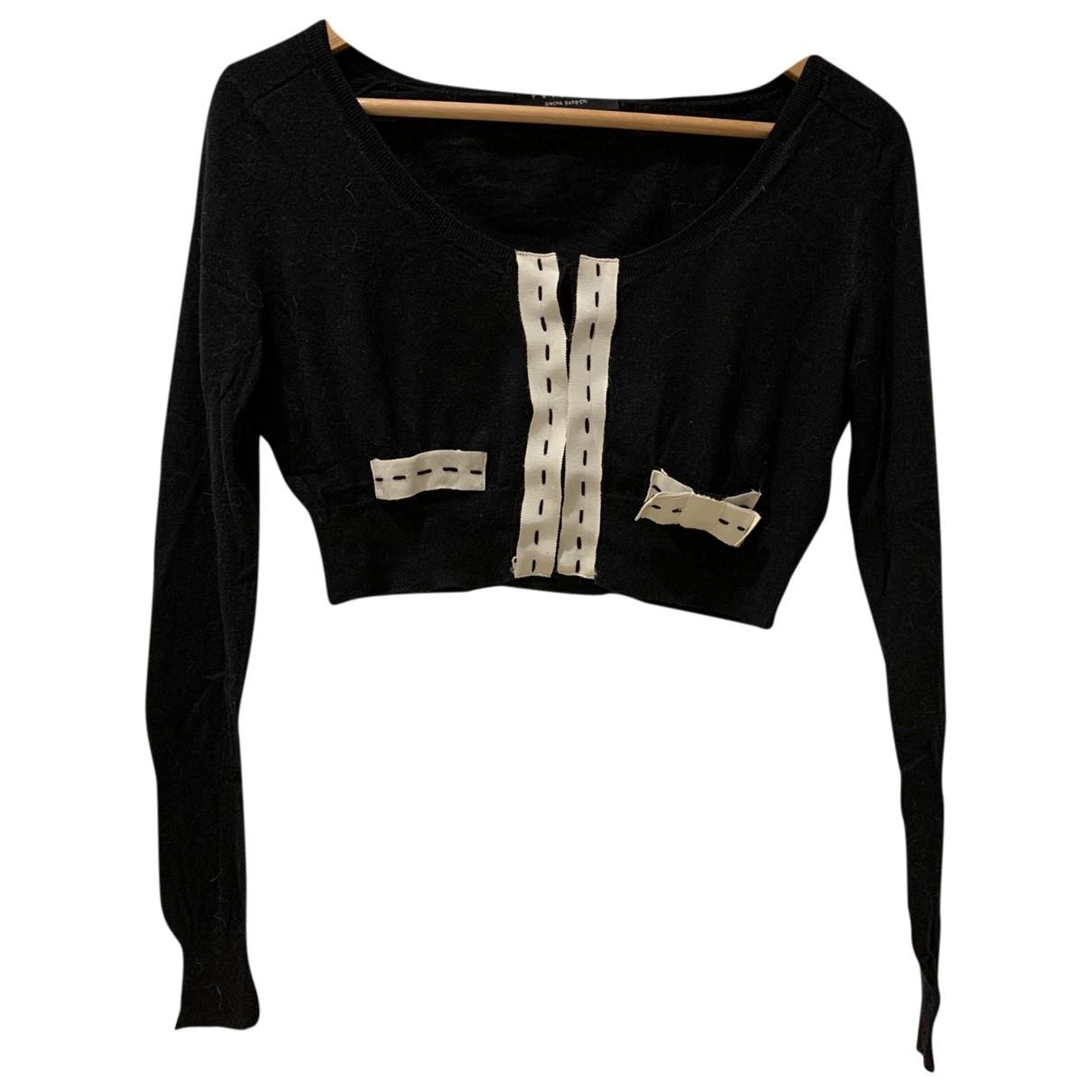 Twin Set \N Pullover in  Schwarz Baumwolle
