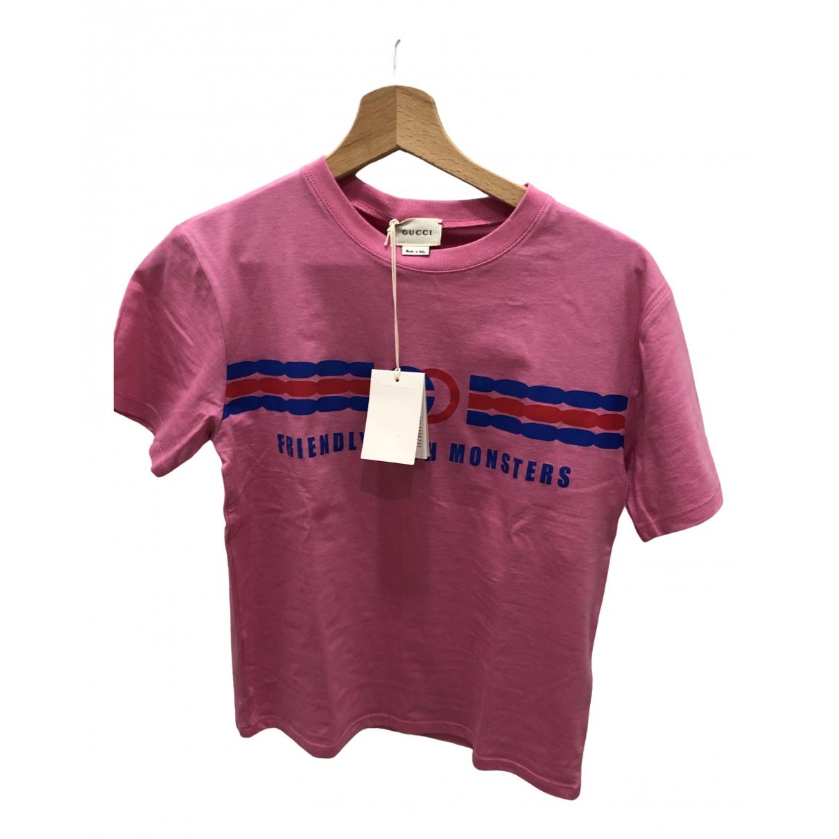 Gucci - Top   pour enfant en coton - rose