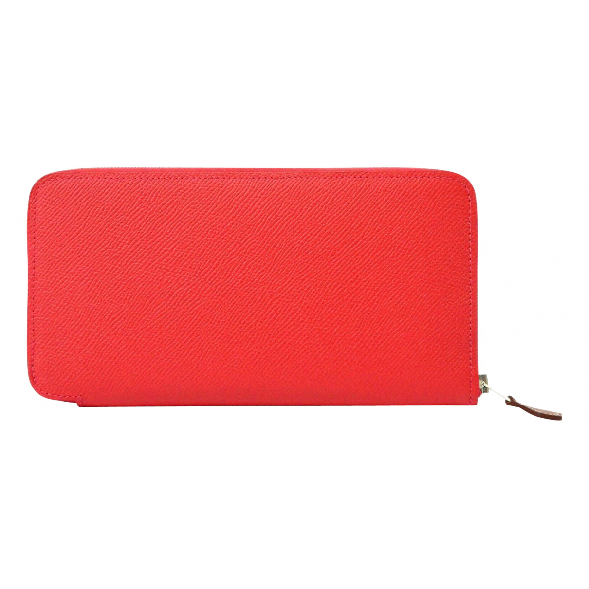 Hermes Azap Portemonnaie in  Rot Leder