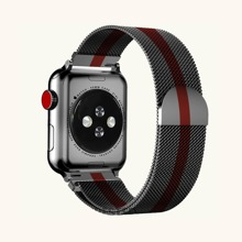 1pc Two Tone Stainless Steel iWatch Band