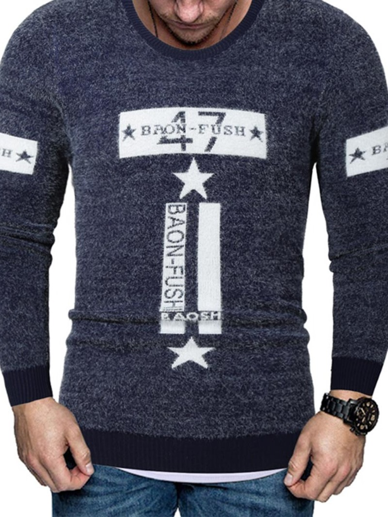 Ericdress Standard Round Neck Number European Men's Sweater