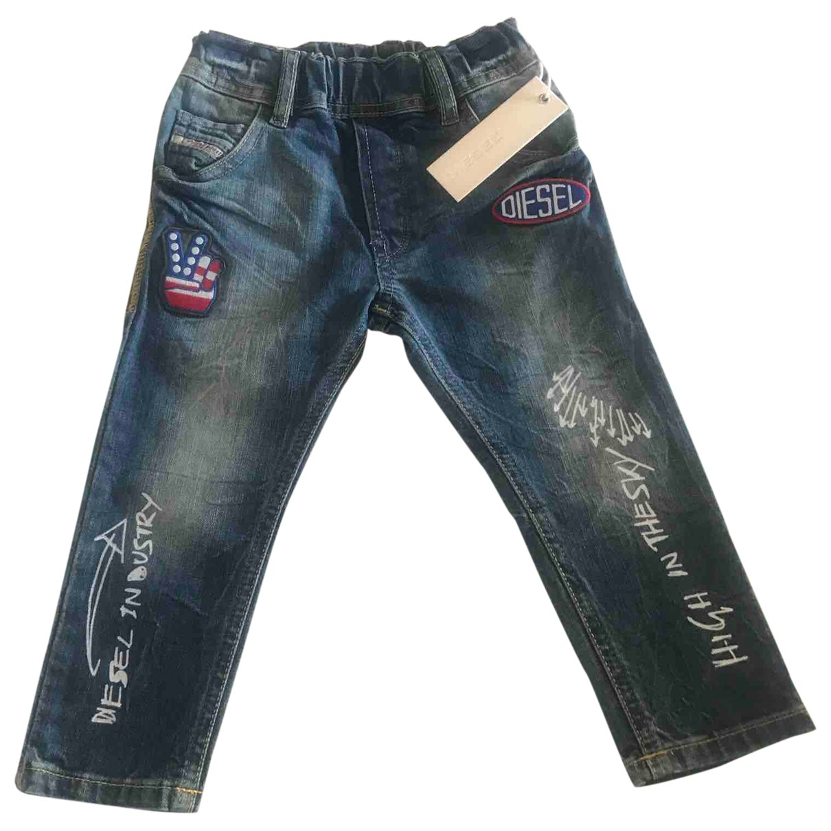 Diesel \N Blue Cotton Trousers for Kids 2 years - up to 86cm FR