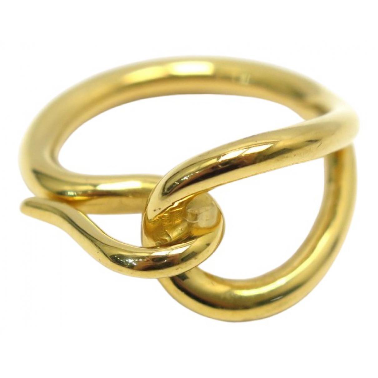Hermes - Foulard   pour femme en metal - dore