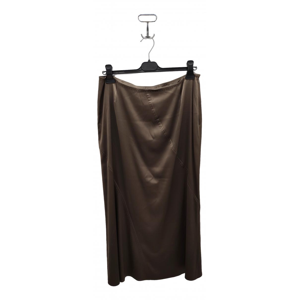 Marina Yachting \N Brown Silk skirt for Women 18-20 UK