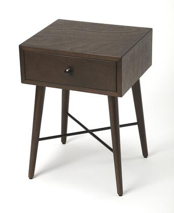 Delridge Collection 3791403 End Table with Modern Style  Rectangular Shape  Medium Density Fiberboard (MDF) and Bayur Wood Material in Coffee