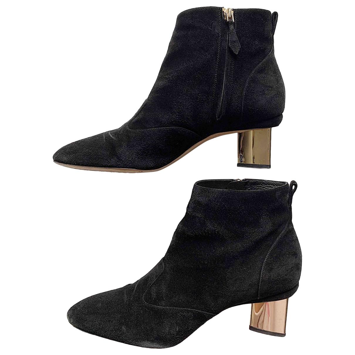 Nicholas Kirkwood \N Black Suede Ankle boots for Women 41 EU
