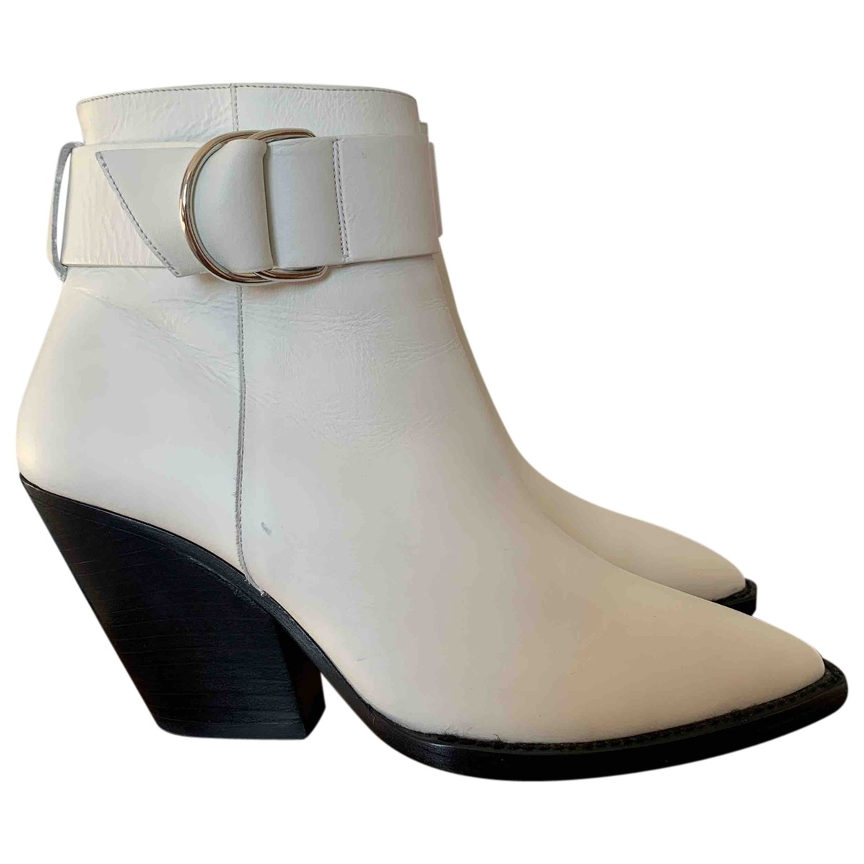 Iro Spring Summer 2019 White Leather Boots for Women 41 EU