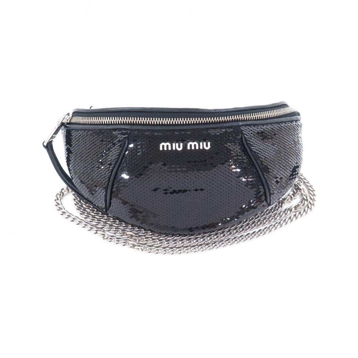 Miu Miu \N Black Glitter Clutch bag for Women \N