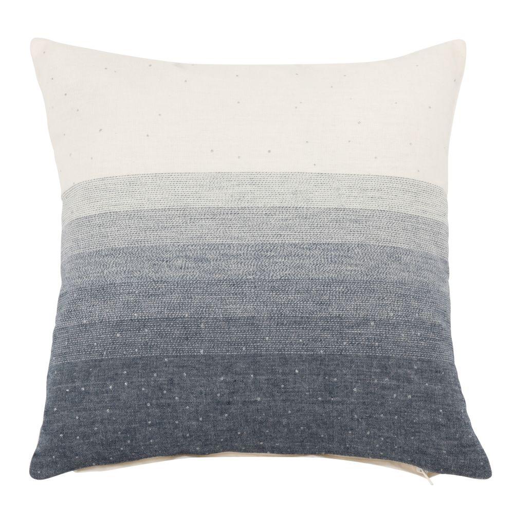 Kissenbezug aus Baumwolle in Blaunuancen 40x40