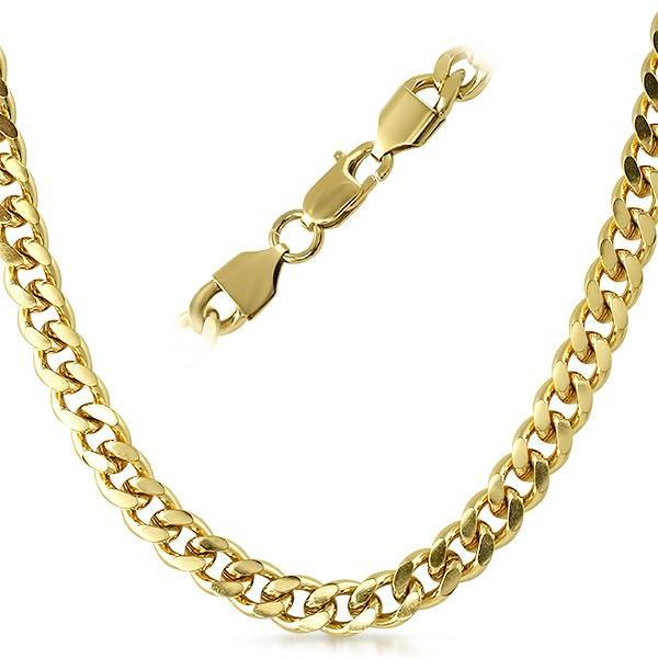 8MM Cuban IP Gold Stainless Steel Chain Necklace
