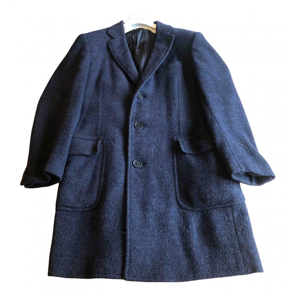 Canali - Manteau   pour homme en laine - marine
