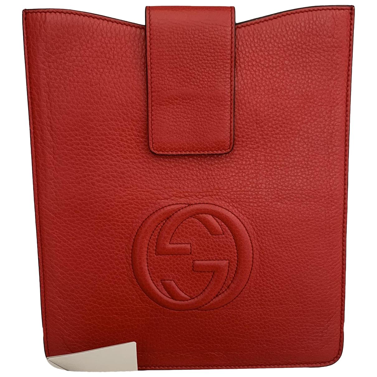 Gucci - Accessoires   pour lifestyle en cuir - rouge