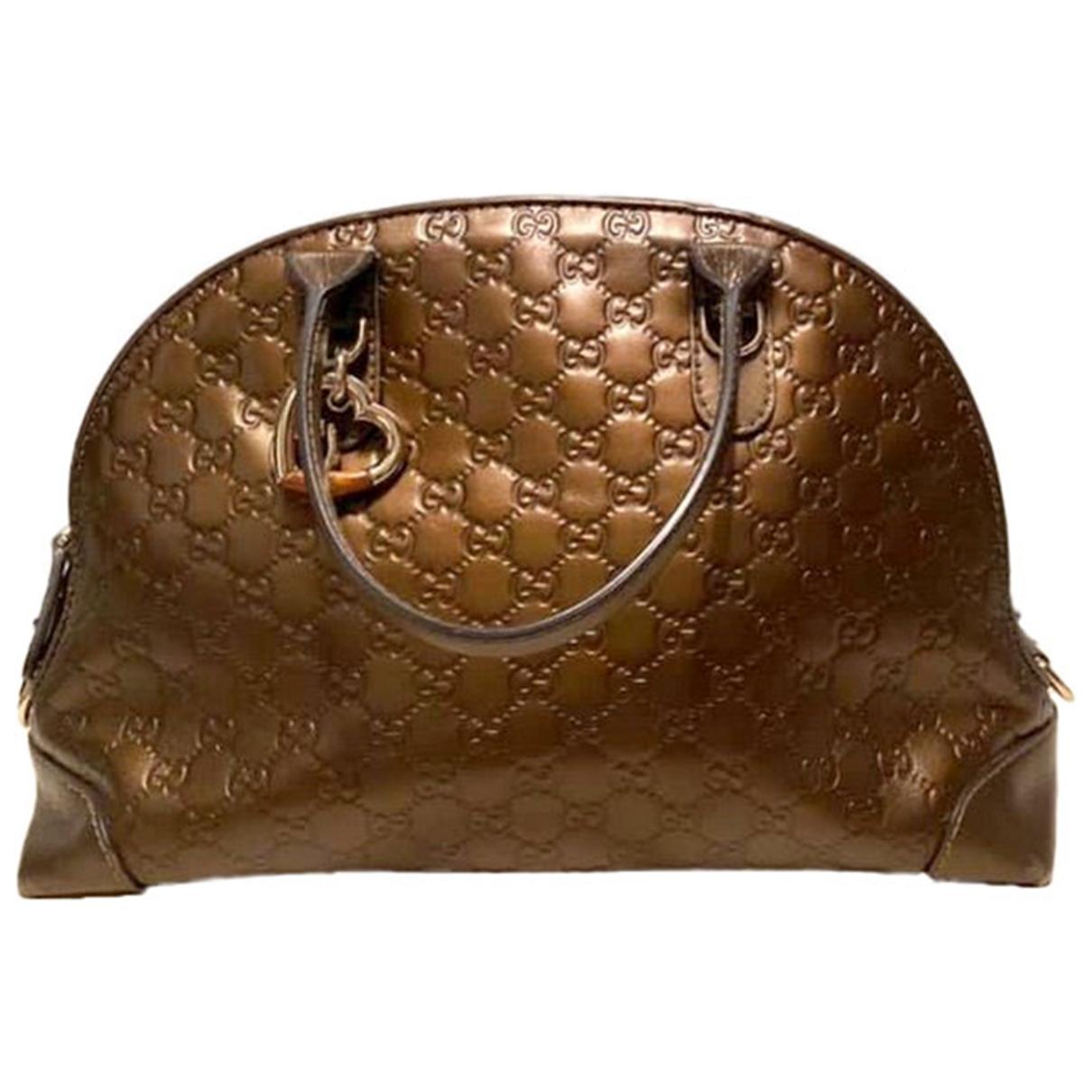 Gucci - Sac a main   pour femme en cuir - metallise