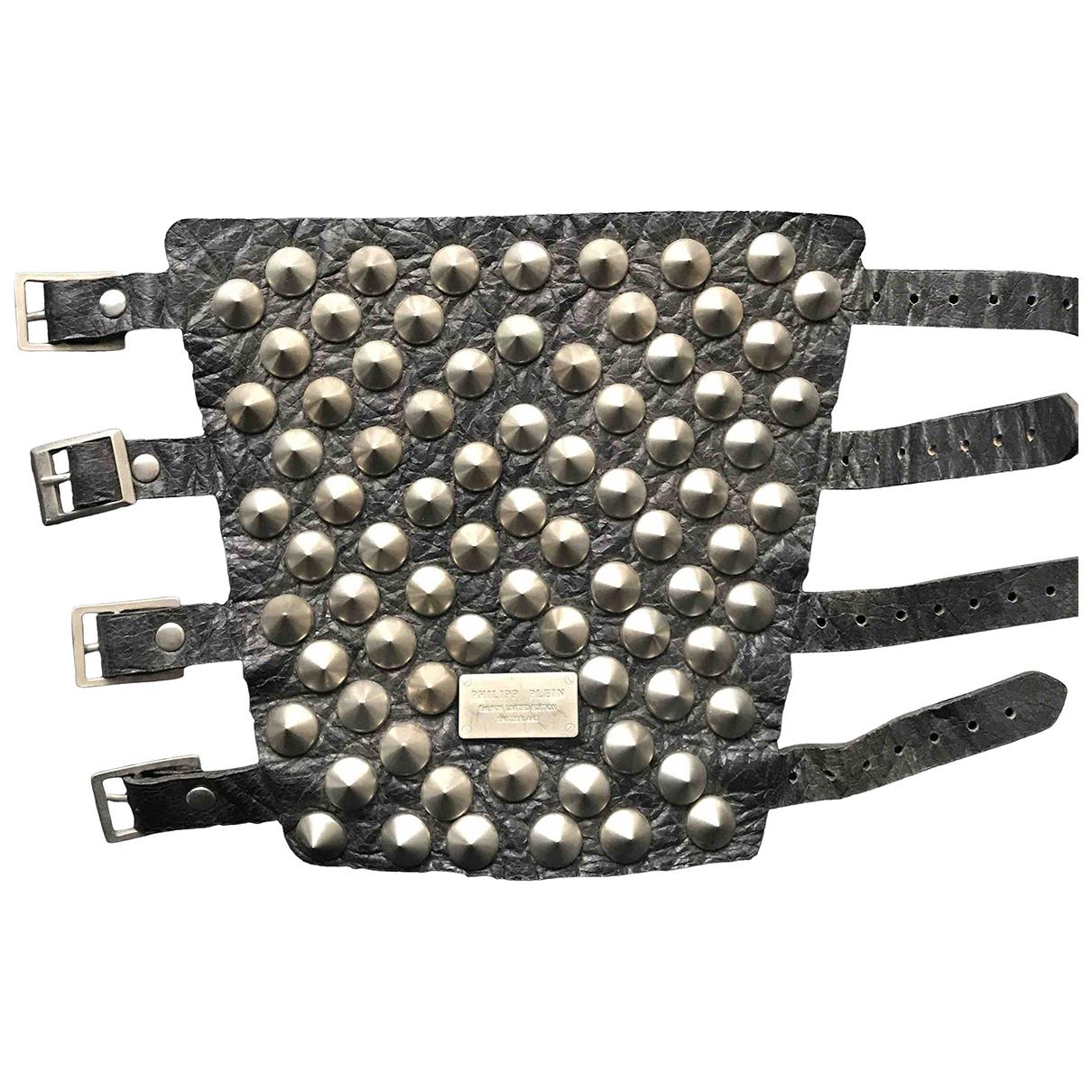 Philipp Plein - Bracelet   pour femme en cuir - noir