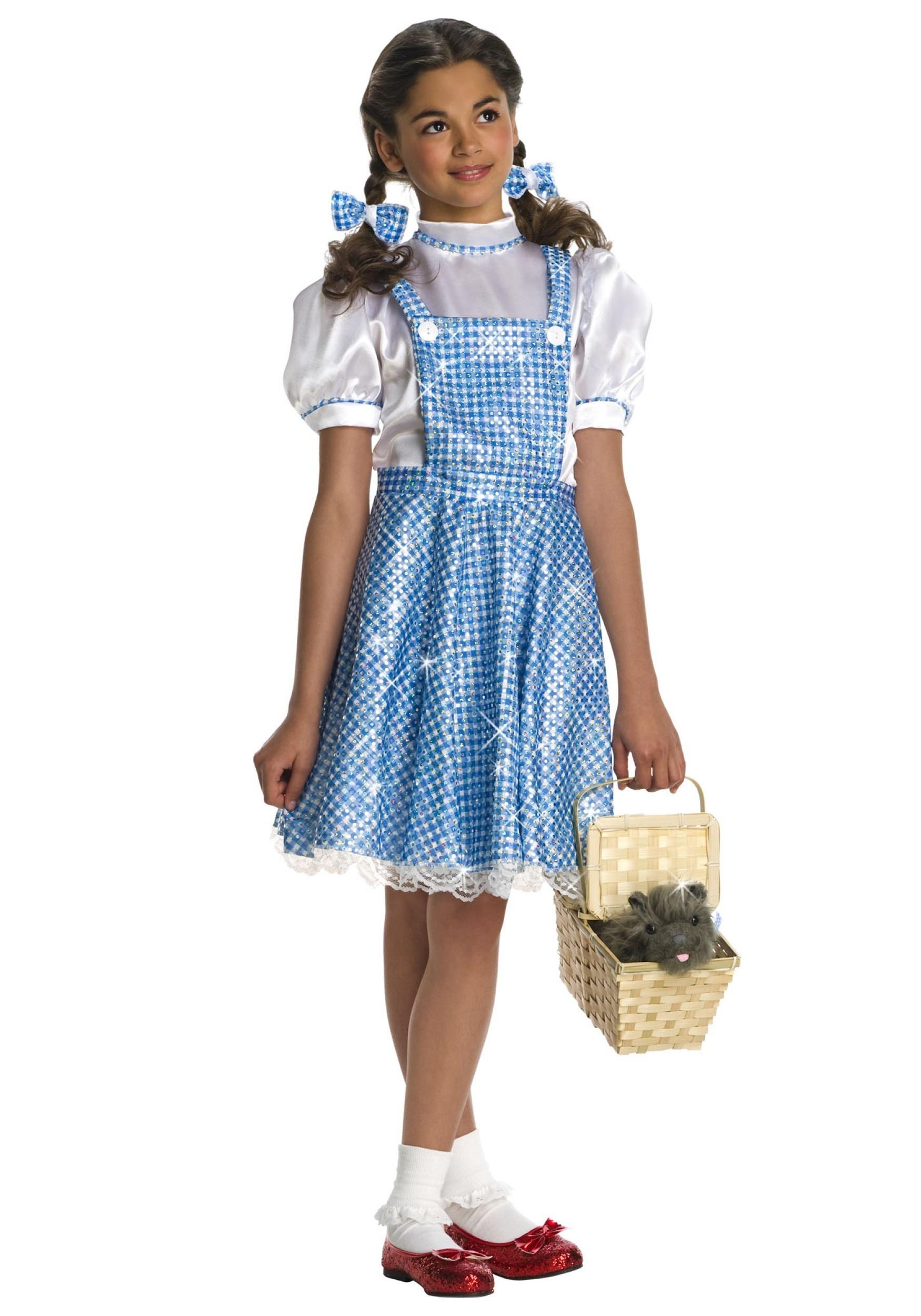 Sequin Dorothy Costume for Girls W/ Dress & Hair Ribbons