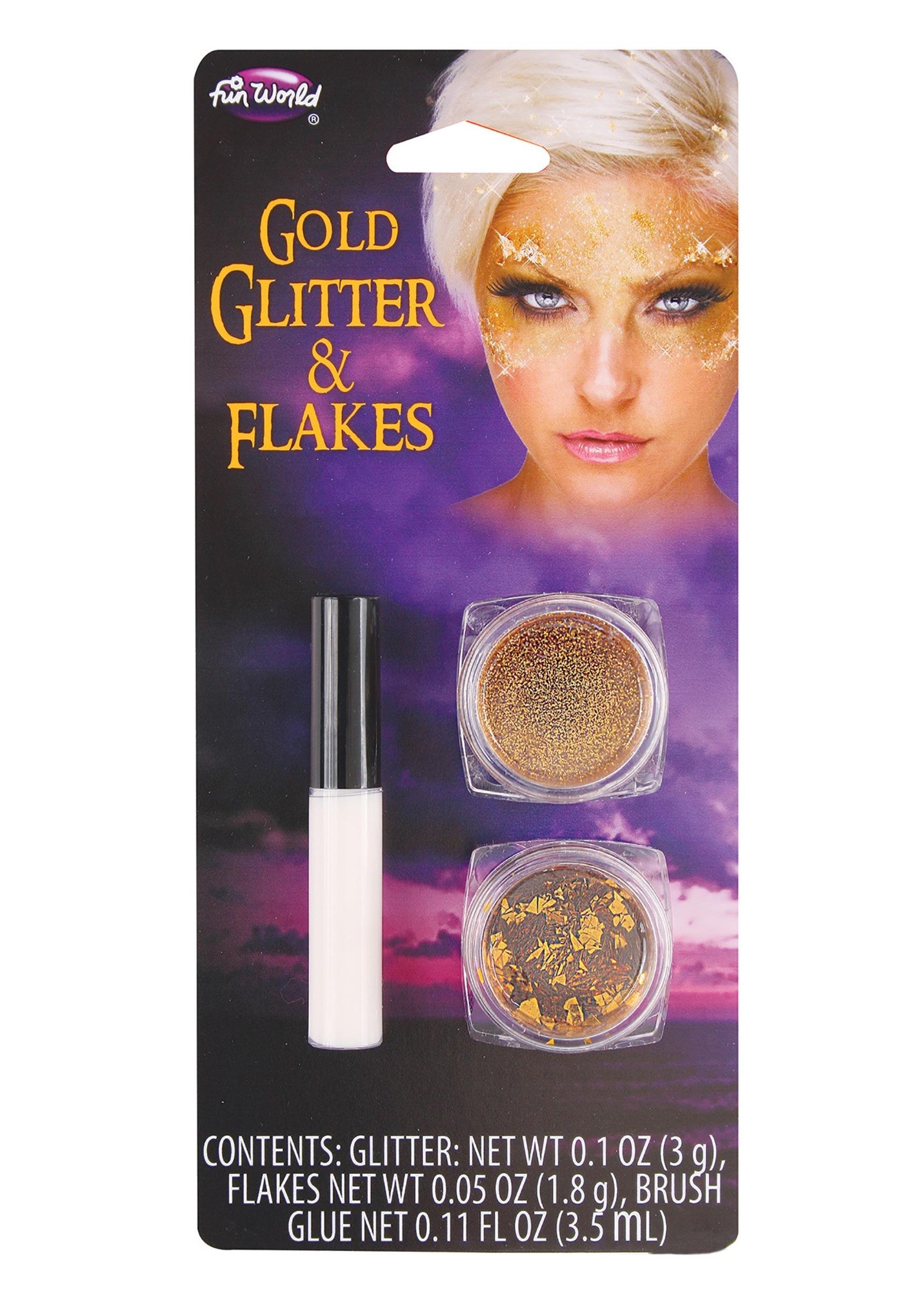Fun World Gold Glitter and Flakes