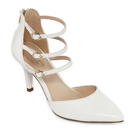 Liz Claiborne Womens Hara Pumps Spike Heel, 11 Medium, White