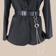 Cinturon con diseño de cadena metalica