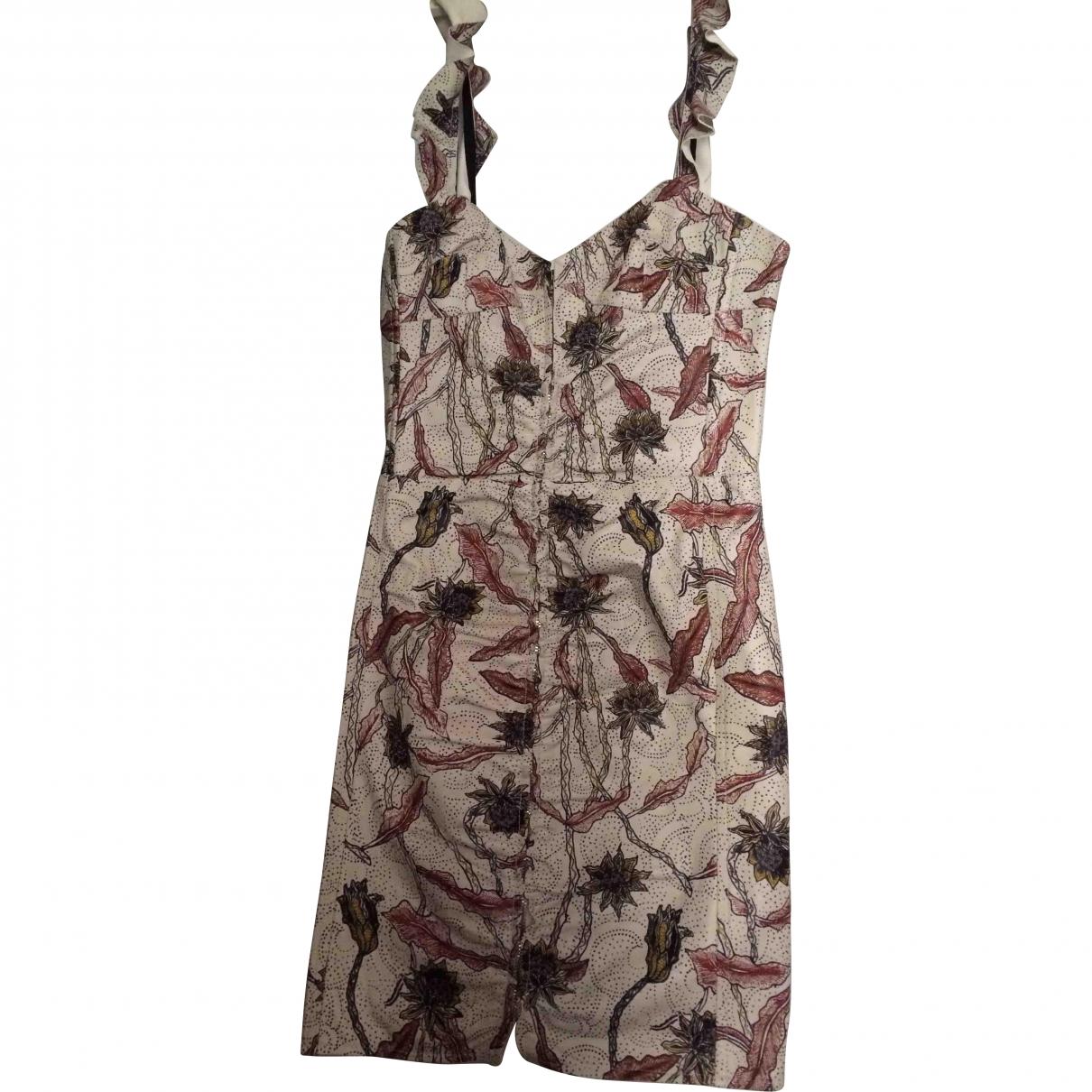 Isabel Marant \N Beige Leather dress for Women 36 FR