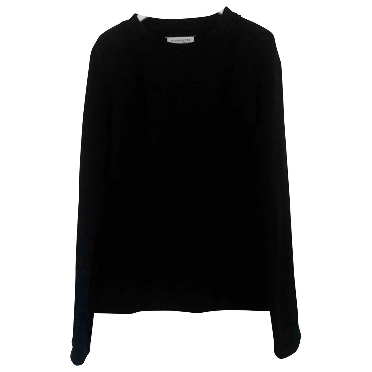 Maison Martin Margiela \N Pullover.Westen.Sweatshirts  in  Schwarz Baumwolle
