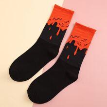 Socken mit Farbblock Muster