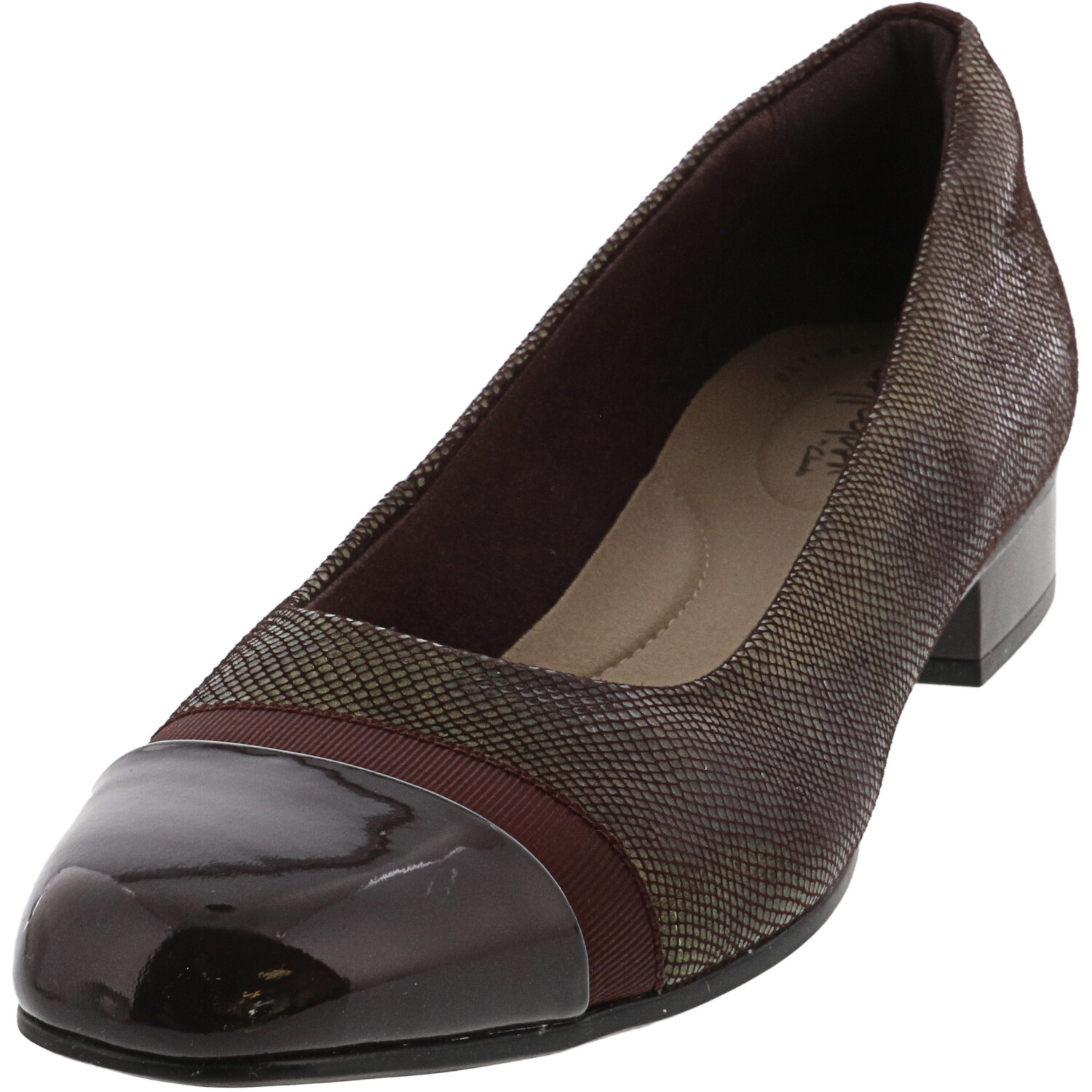 Clarks Women's Juliet Monte Burgundy Ankle-High Leather Loafers & Slip-On - 9.5N