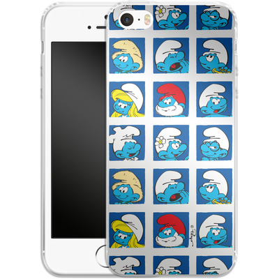 Apple iPhone 5s Silikon Handyhuelle - Smurf Squares von The Smurfs