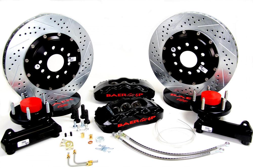 Baer Brakes Brake System 14 Inch Front Pro+ Black 70-74 Stock Disc Spindle Only