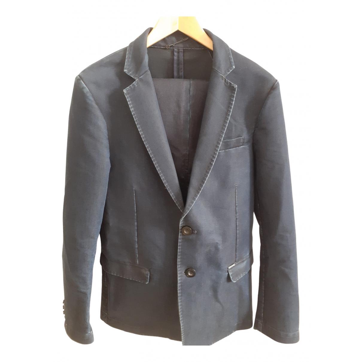 Diesel - Costumes   pour homme en coton - bleu