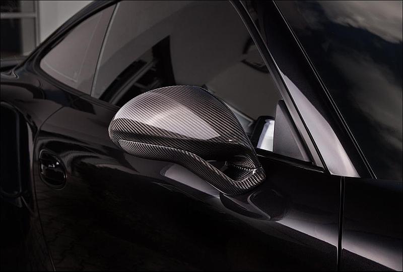 TECHART Gloss Carbon Fiber Sport Design Side Mirror Kit Porsche 991.2 Carrera 17-19