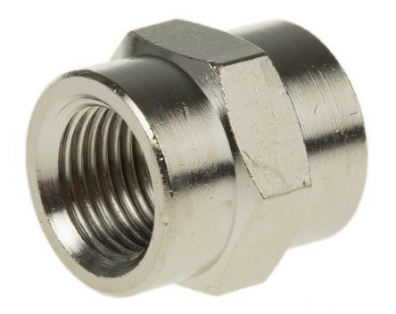 Legris LF3000 20 bar Brass Pneumatic Straight Threaded Adapter, G 1/8 Female To G 1/8 Female (5)