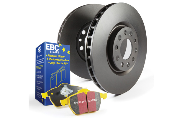 EBC Brakes S13KF1580 S13KF Kit Number Front Disc Brake Pad and Rotor Kit DP41114R+RK1045 Audi Front