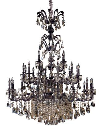 Avelli 10489-013-FR005 41-Light Chandelier in Sienna Bronze W-Antique Silver Leaf accents. Finish with Firenze Fleet Gold