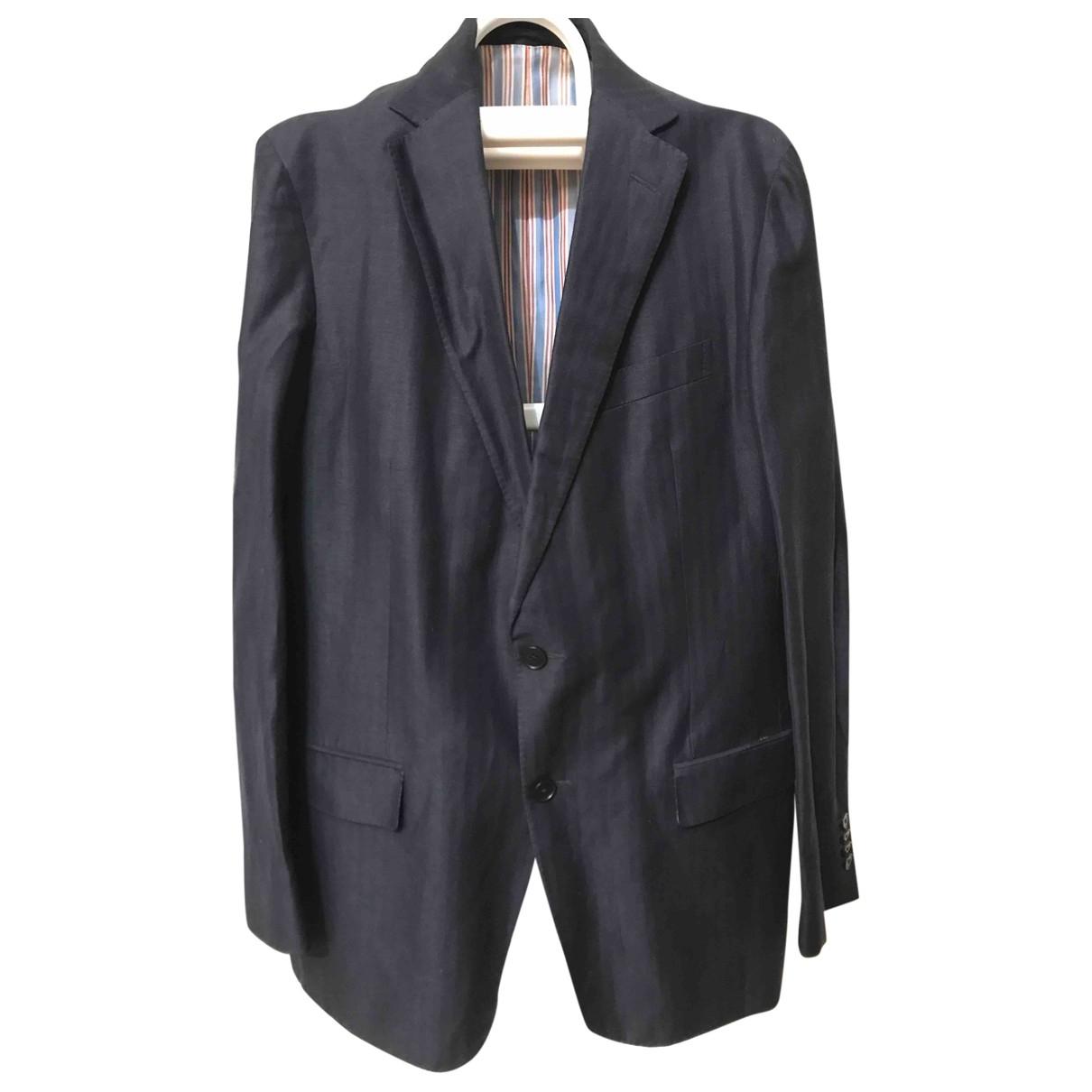 Ermenegildo Zegna \N Navy Linen jacket  for Men 54 IT