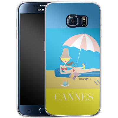 Samsung Galaxy S6 Silikon Handyhuelle - CANNES TRAVEL POSTER von IRMA