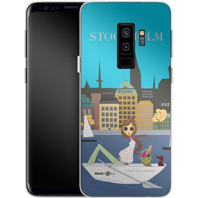 Samsung Galaxy S9 Plus Silikon Handyhuelle - STOCKHOLM TRAVEL POSTER von IRMA