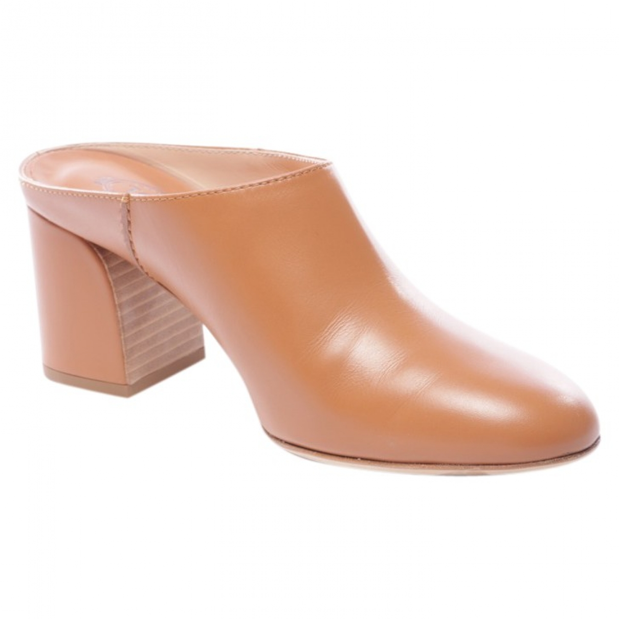 Tod's \N Brown Leather Heels for Women 39 EU