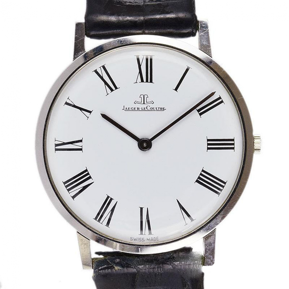 Jaeger-lecoultre Master Ultra Thin Uhr in  Weiss Stahl