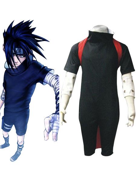 Milanoo Halloween Naruto Uchiha Sasuke Halloween Cosplay Costume