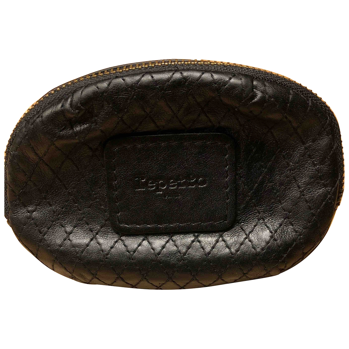 Repetto \N Black Leather Purses, wallet & cases for Women \N