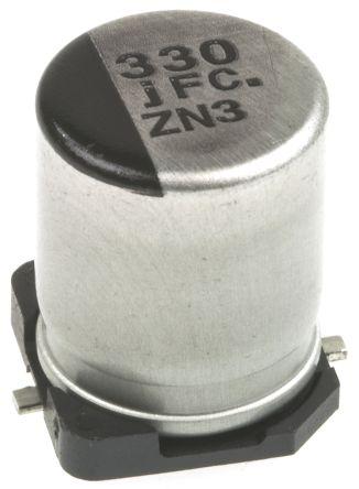 Panasonic 330μF Electrolytic Capacitor 6.3V dc, Surface Mount - EEEFC0J331P (5)