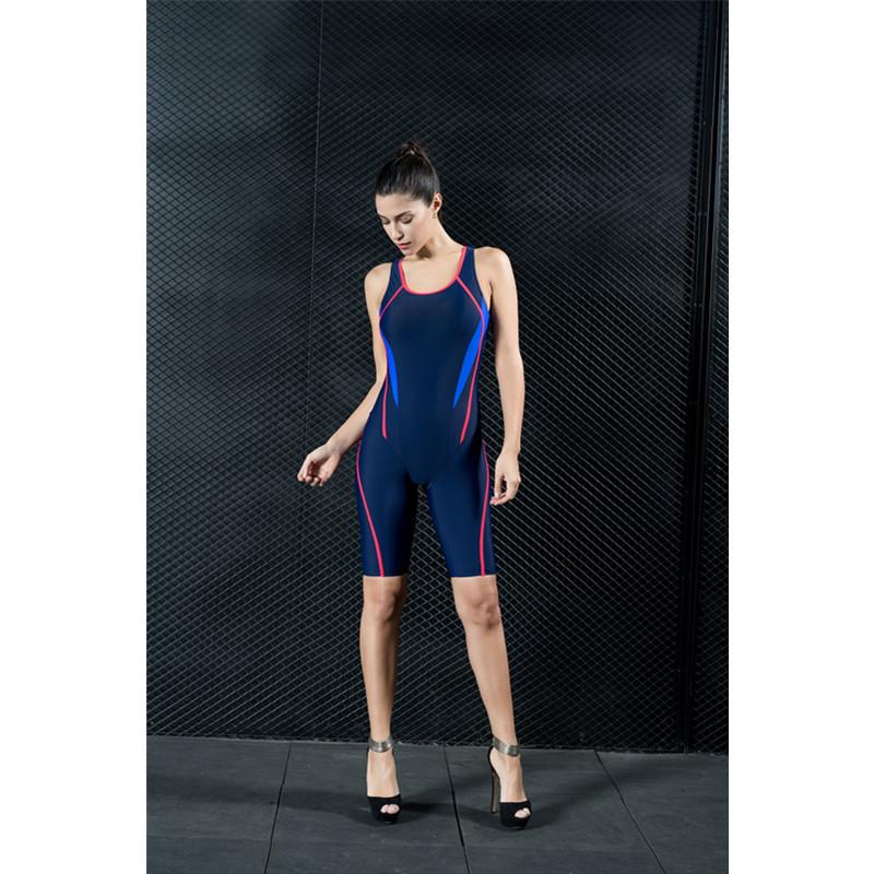 Nylon Comfortable Tight One Piece Modest Women' s Swimwear