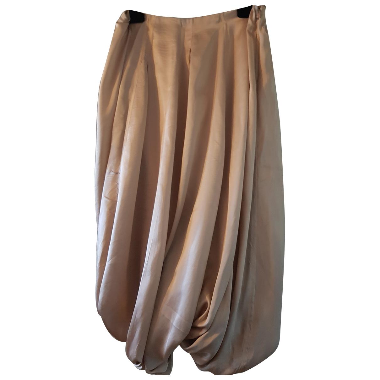 - Jupe   pour femme en soie - rose