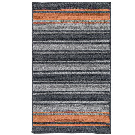 Colonial Mills Naples Stripe Reversible Braided Rug, One Size , Gray