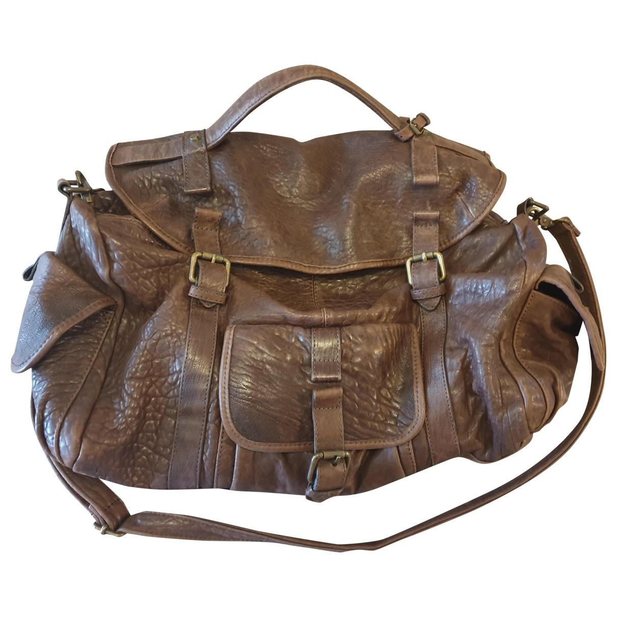 Great By Sandie \N Handtasche in  Braun Leder